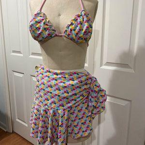 Shoshanna heart print bikini set- Brand new